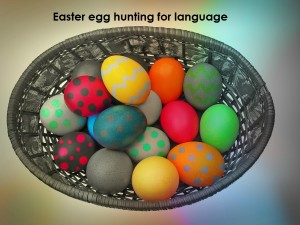 Easter egg hunting for language by Helen