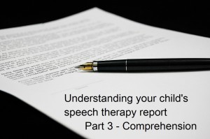 Understanding your child's speech and language report part 3: Comprehension by Helen