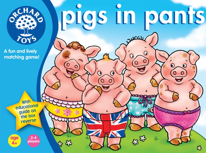 Pigs in Pants! A review of Orchard Toys new game By Elizabeth