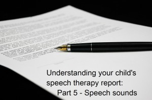 Understanding your child's speech and language therapy report: speech by Elizabeth