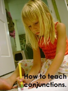 How to teach conjunctions to older children