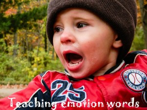 Teaching emotion words