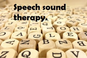 Speech sound therapy