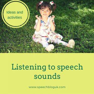 Listening to speech sounds