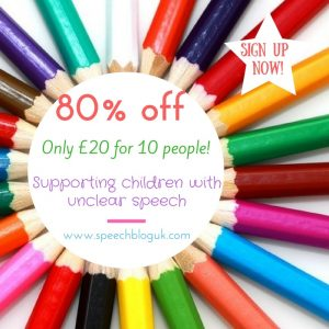 Supporting children with unclear speech