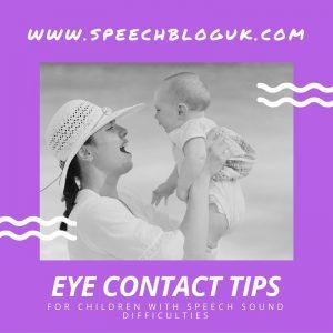 Encouraging eye contact