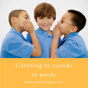 listening to sounds in words