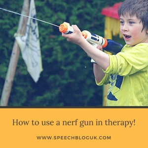 How to use nerf guns in speech therapy!