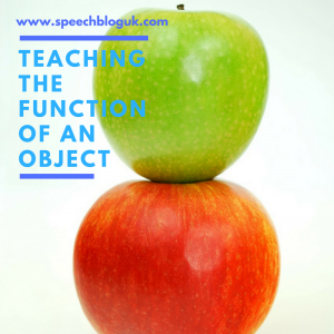 Teaching the function of an object
