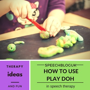 How to use play doh in speech therapy