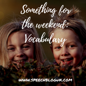 Something for the weekend: Vocabulary