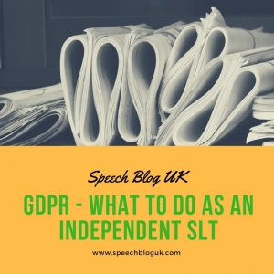 GDPR – what to do as an independent SLT