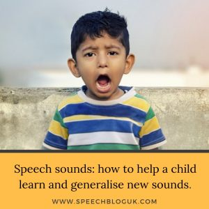 Speech sounds: learning and generalising