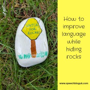 How to work on language while hiding rocks